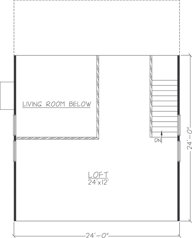 Cabin floor plan logangate homes for 24x24 cabin floor plans with loft