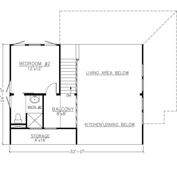 UPPER FLOOR 24x32Total Sq. Ft.= 1100