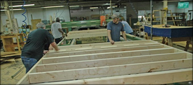 Our wall systems panelized construction post and beam for Panelized building systems