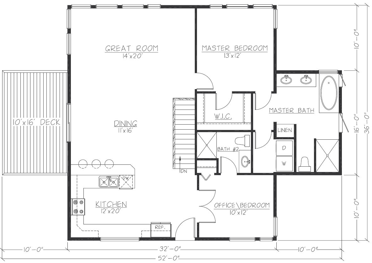 Design Contemporary 3216 Floorplan1