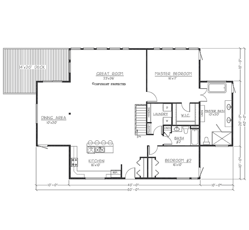 Design Contemporary 4020 Floorplan1