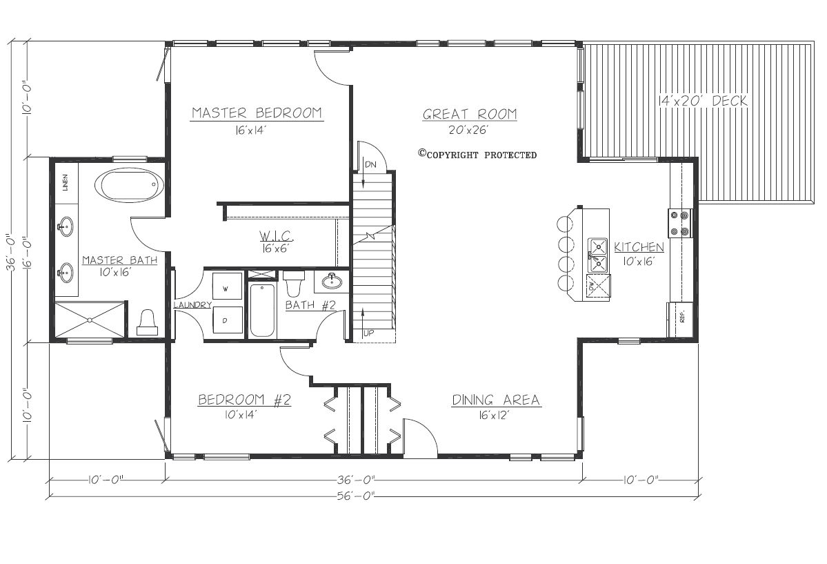Design Contemporary Tranquility 3616 Floorplan1