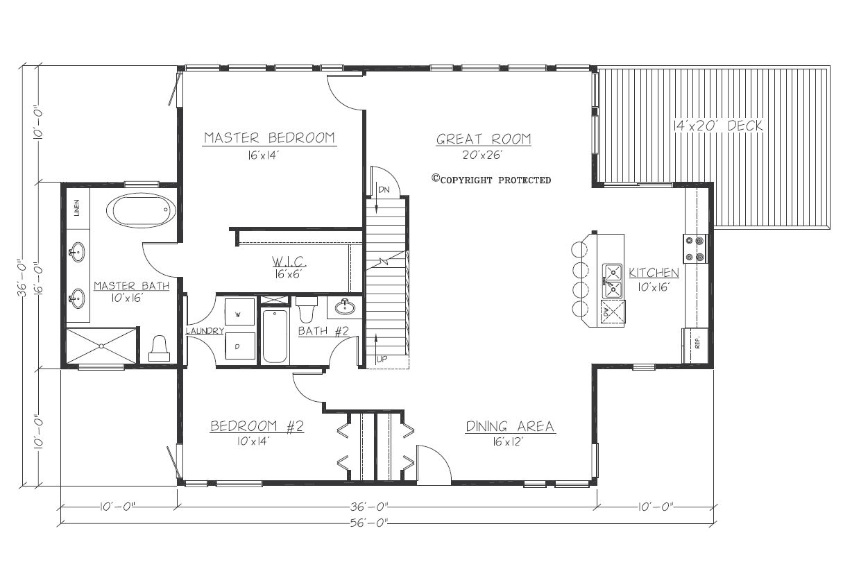 Design Contemporary Tranquility2story 3616 Floorplan1