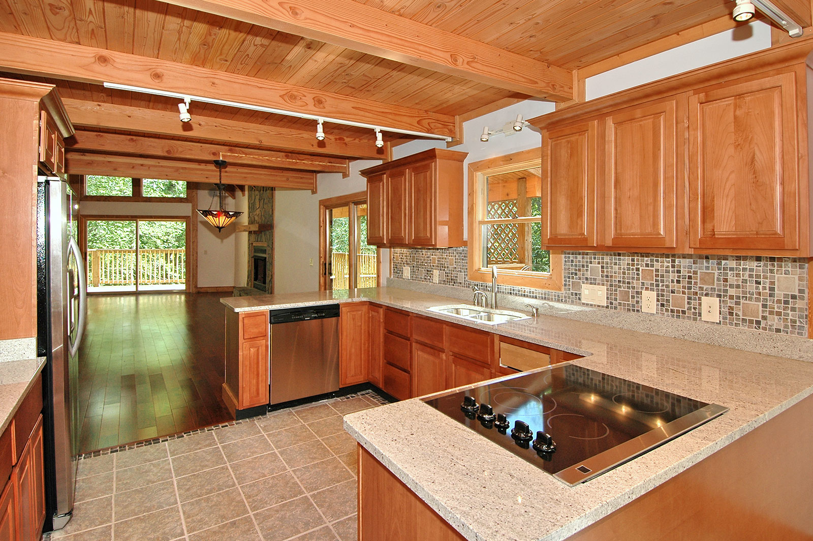 Chalet Timber Home Kitchen